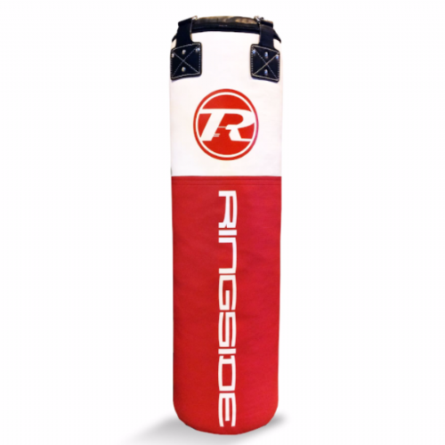 Ringside Synthetic Leather 4ft Punchbag - Red/White